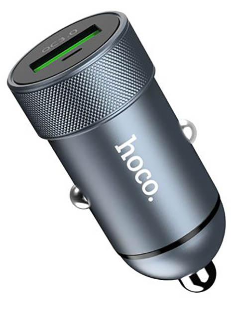 Зарядное устройство Hoco Z32 Speed Up USB QC3.0 Grey