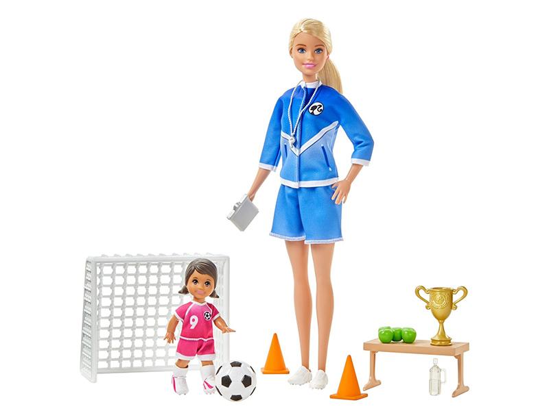 Кукла Mattel Barbie Футбольный тренер GLM47