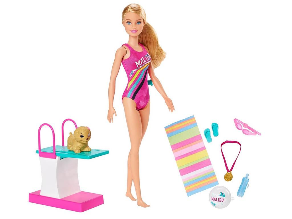 Кукла Mattel Barbie Чемпион по плаванию GHK23