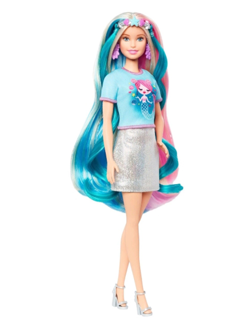 Кукла Mattel Barbie Радужные волосы GHN04
