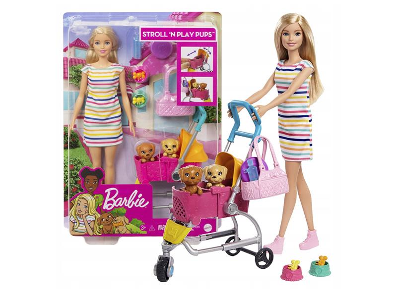 Кукла Mattel Barbie Барби с щенком в коляске GHV92