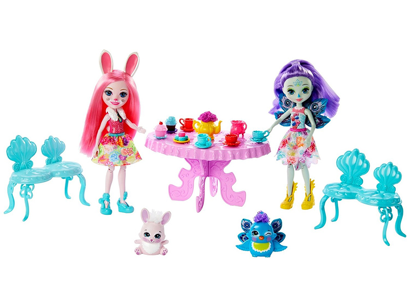 Кукла Mattel Enchantimals Чаепитие Пэттер Павлины и Бри Кроли GLD41