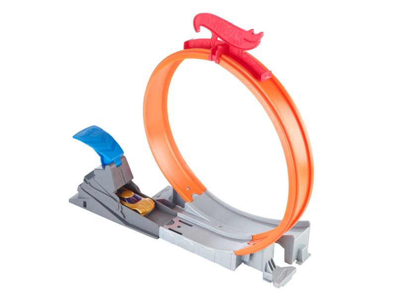 Автотрек Mattel Hot Wheels Конструктор Трасс Огненный прыжок FWM85
