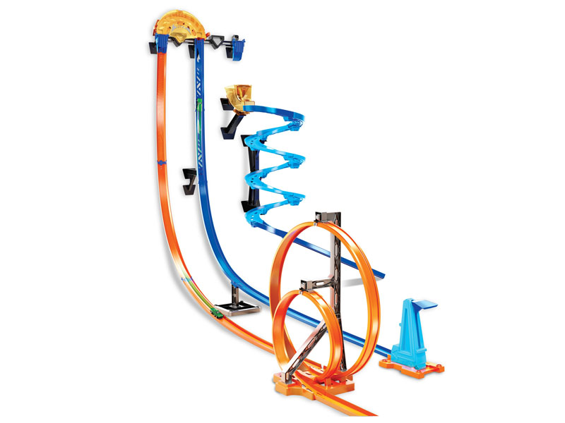 Автотрек Mattel Hot Wheels Конструктор трасс Гонки по-вертикали GGH70