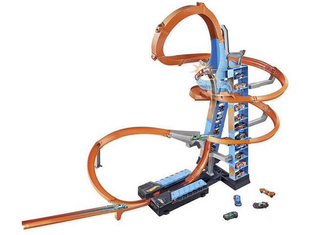 Автотрек Hot Wheels Sky Crash Tower GJM76
