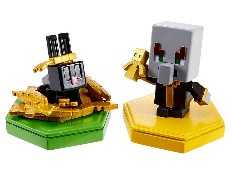 Набор из двух мини-фигурок с NFC-чипом Mattel Minecraft GKT41 mattel my mini mixi q s dwr15 набор из 3 фигурок page 8