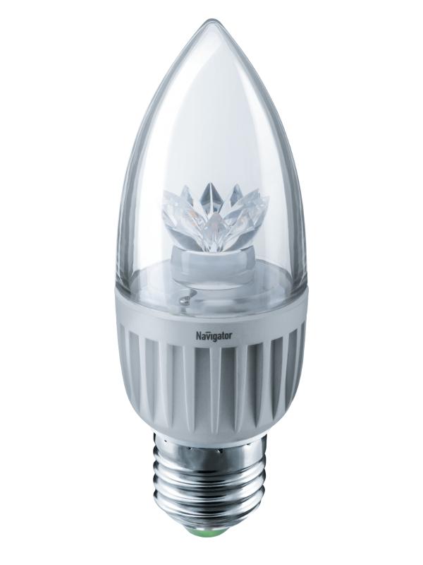 Лампочка Navigator NLL-C37-7-230-2.7K-E27-CL 71 849