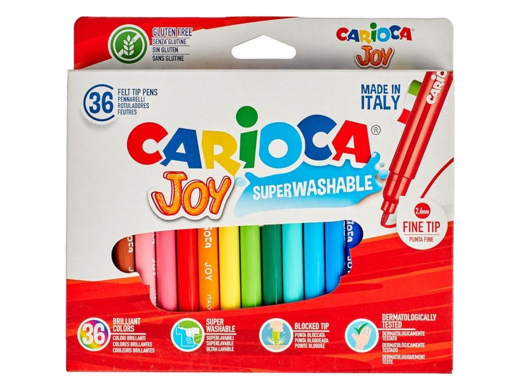 Фломастеры Carioca Joy 36 цветов 40616