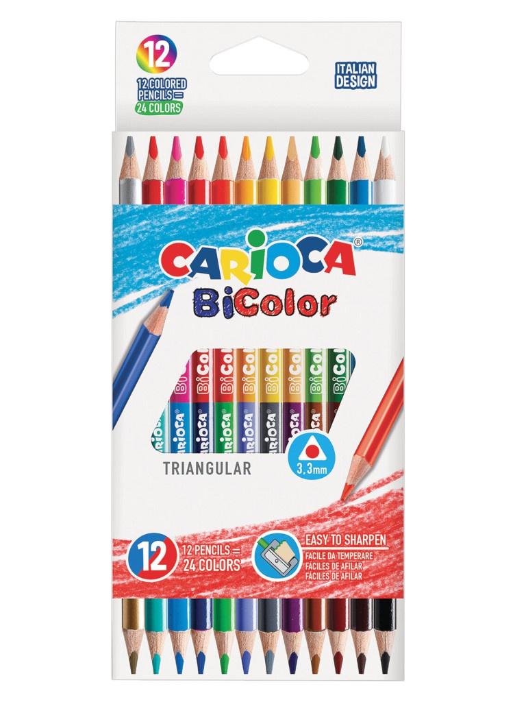 Карандаши цветные Carioca Bi-Color 24 цвета 42991