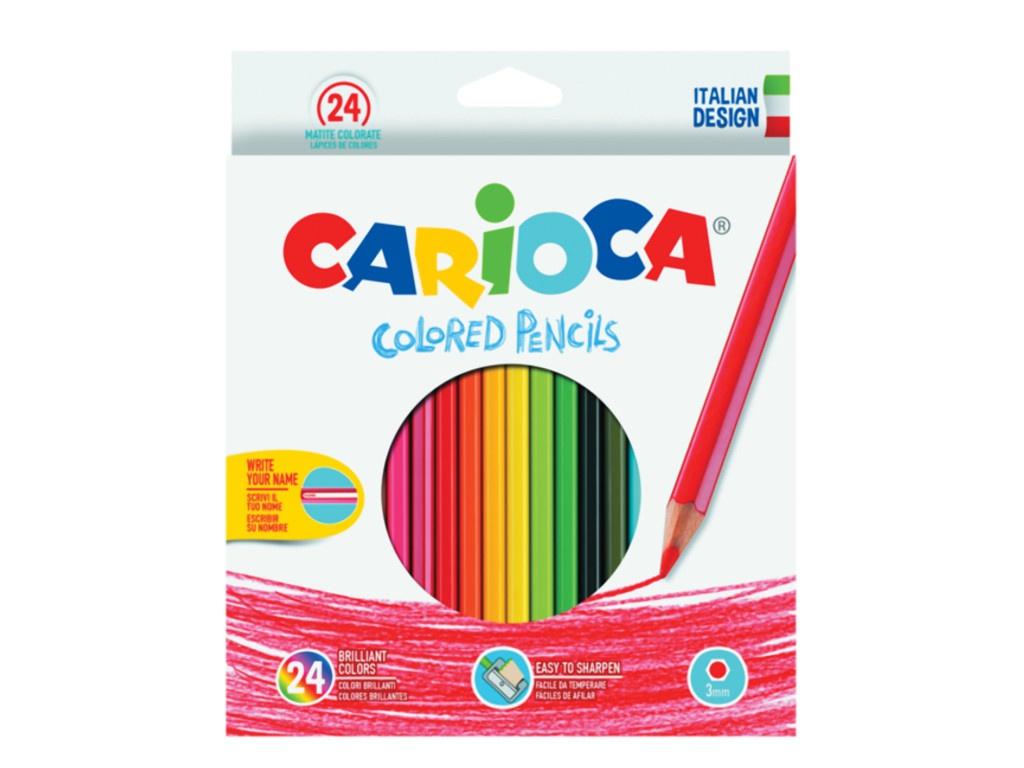 Карандаши цветные Carioca 24 цвета 40381