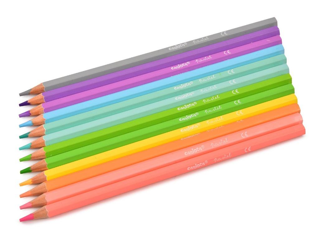 Карандаши цветные Carioca Pastel 12 цветов 43034