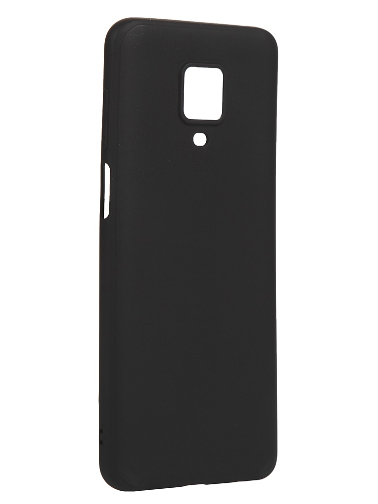Чехол Brosco для Xiaomi Redmi Note 9S Matt Black XM-RN9S-COLOURFUL-BLACK