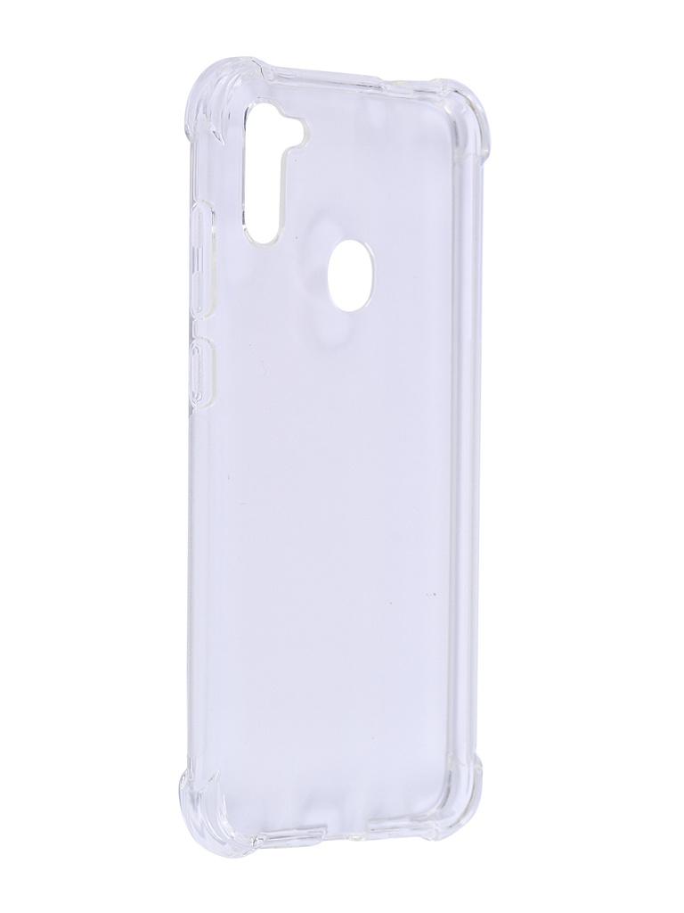 Чехол Brosco для Samsung Galaxy A11 Transparent SS-A11-HARD-TPU-TRANSPARENT чехол brosco для samsung galaxy a12 ss a12 tpu transparent