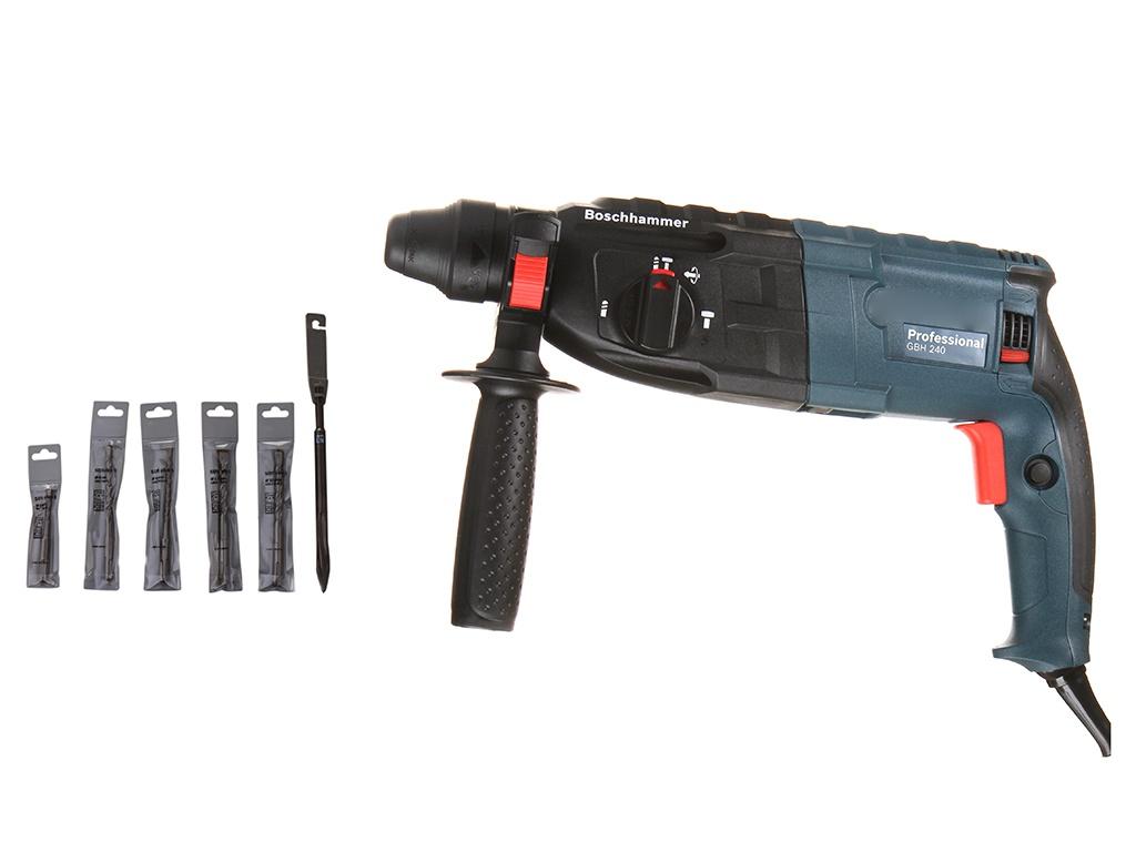Перфоратор Bosch GBH 240 + Набор буров (0611272102)