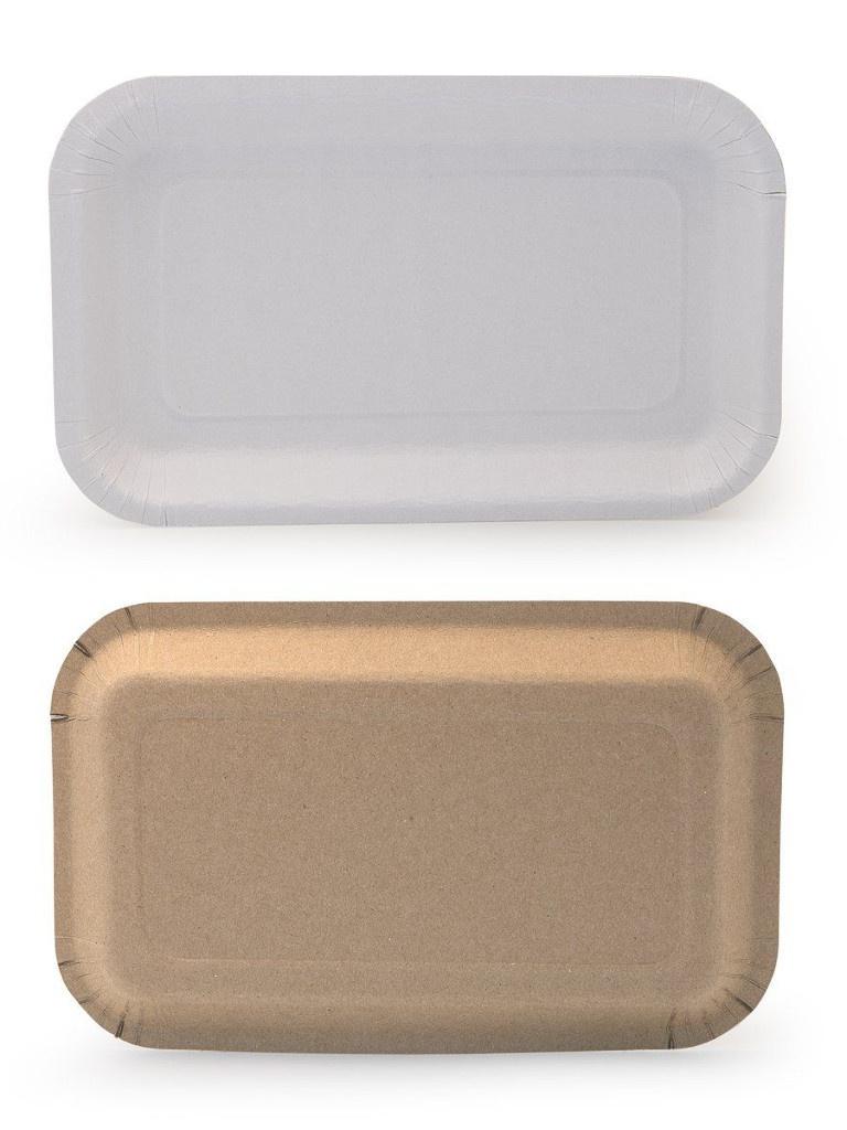 Одноразовая тарелка Непластик 220x140x20mm 411-021