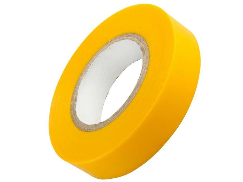 Изолента ОнЛайт OIT-B19-20/Y 19mm x 20m Yellow 61 882