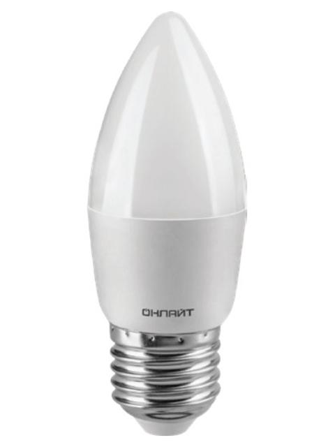 Лампочка ОнЛайт OLL-C37-8-230-6.5K-E27-FR 61 130