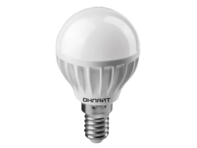 Лампочка ОнЛайт OLL-G45-8-230-4K-E14 71 625