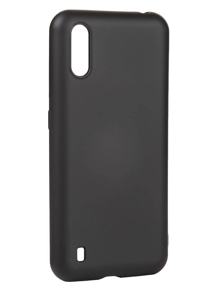 Чехол с микрофиброй DF для Samsung Galaxy M01 Silicone Black sOriginal-15