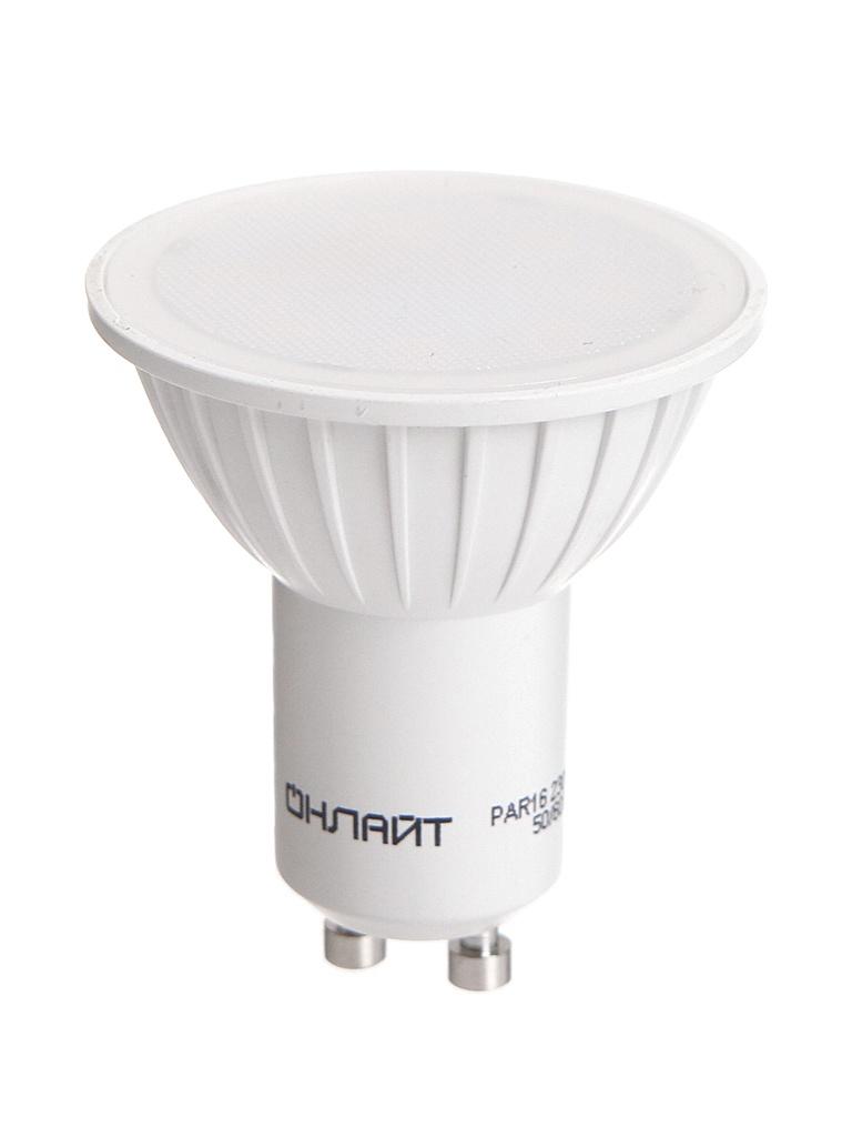 Лампочка ОнЛайт LED PAR16 GU10 7W 230V 3000K OLL-PAR16-7-230-3K-GU10 61 894