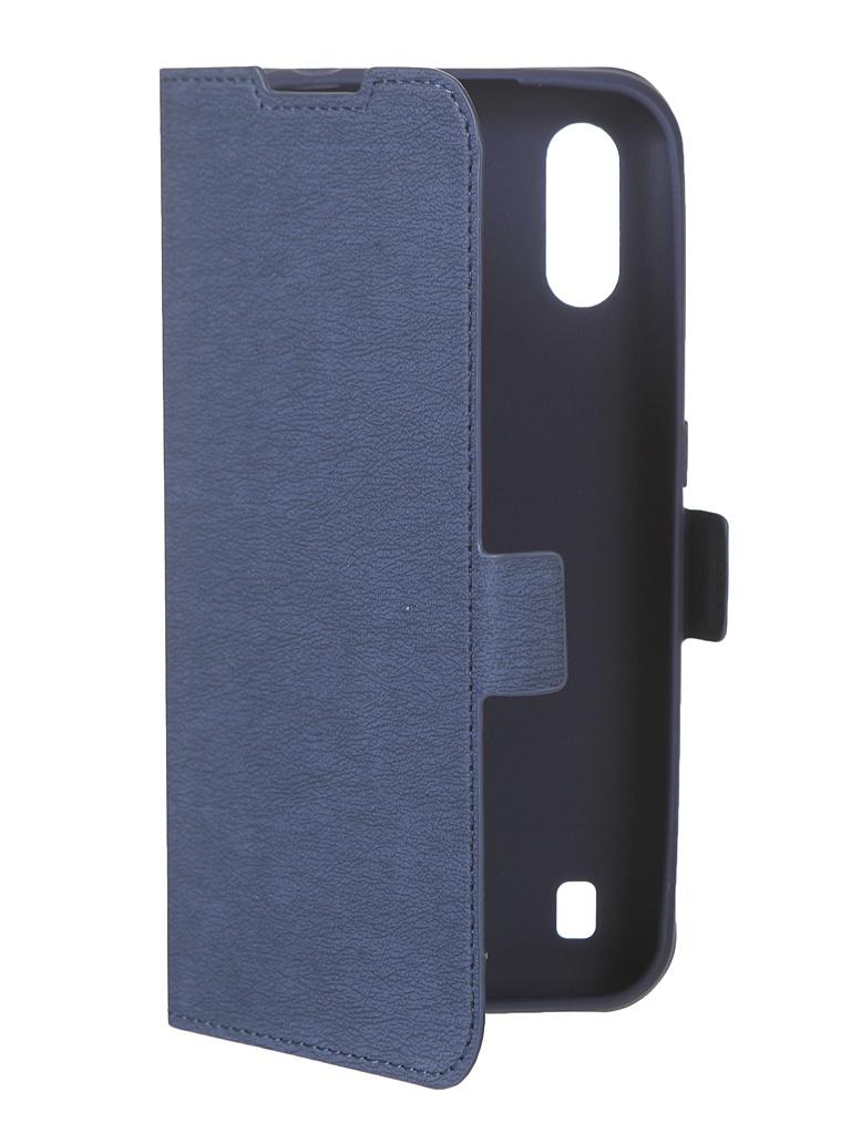 Чехол DF для Samsung Galaxy M01 Blue sFlip-70 чехол df для samsung galaxy m51 blue sflip 71