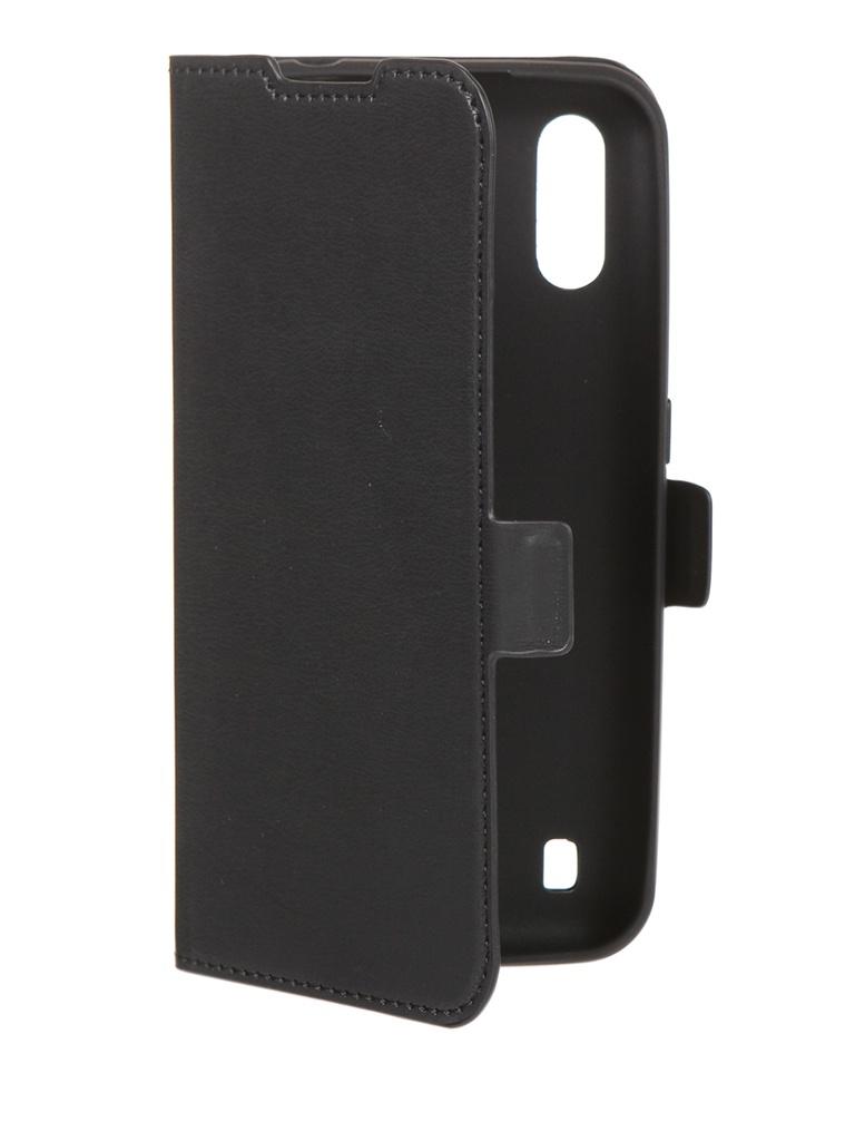 Чехол DF для Samsung Galaxy M01 Black sFlip-70