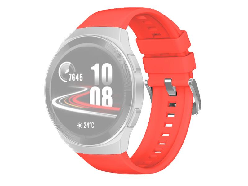 Аксессуар Ремешок DF для Huawei Watch GT 2e Hector Red hwClassicband-03