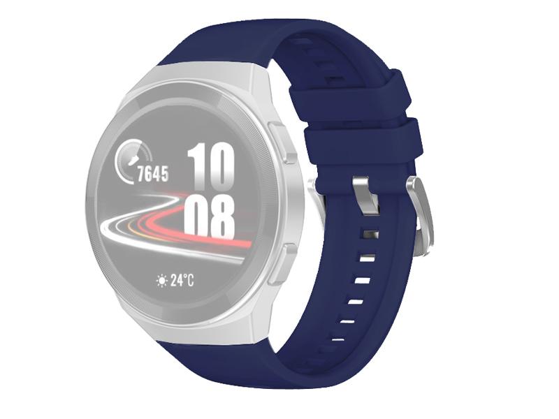 Аксессуар Ремешок DF для Huawei Watch GT 2e Hector Blue hwClassicband-03