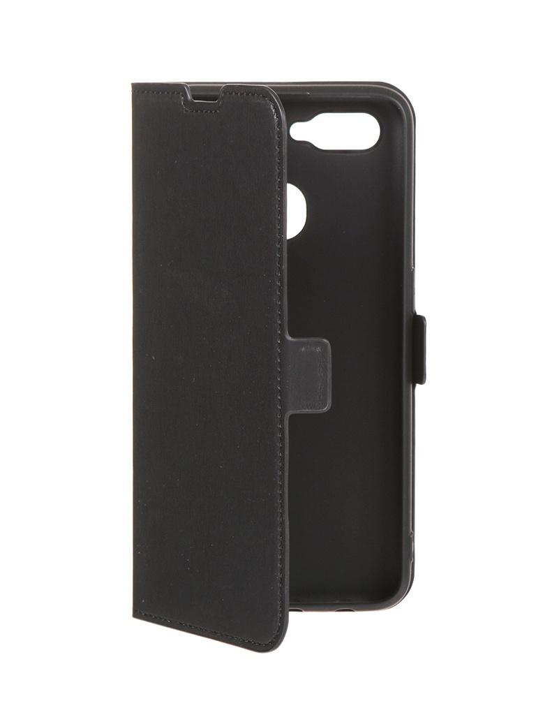 Чехол DF для Oppo A12 Black oFlip-10