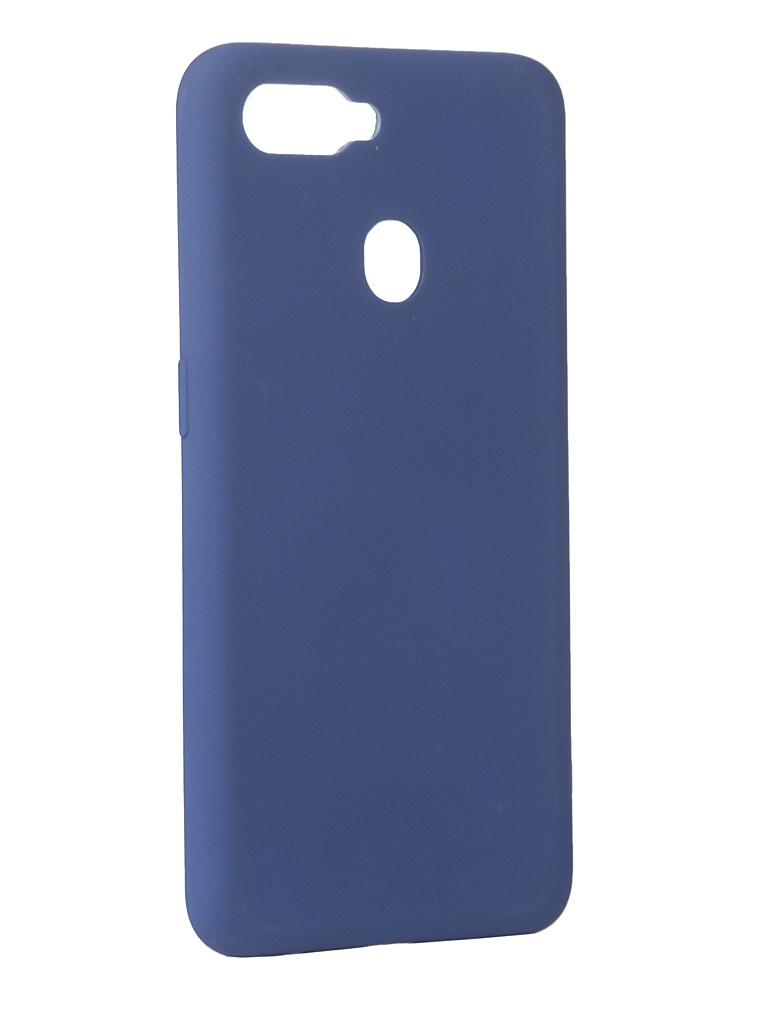 Чехол DF для Oppo A12 Blue oOriginal-05