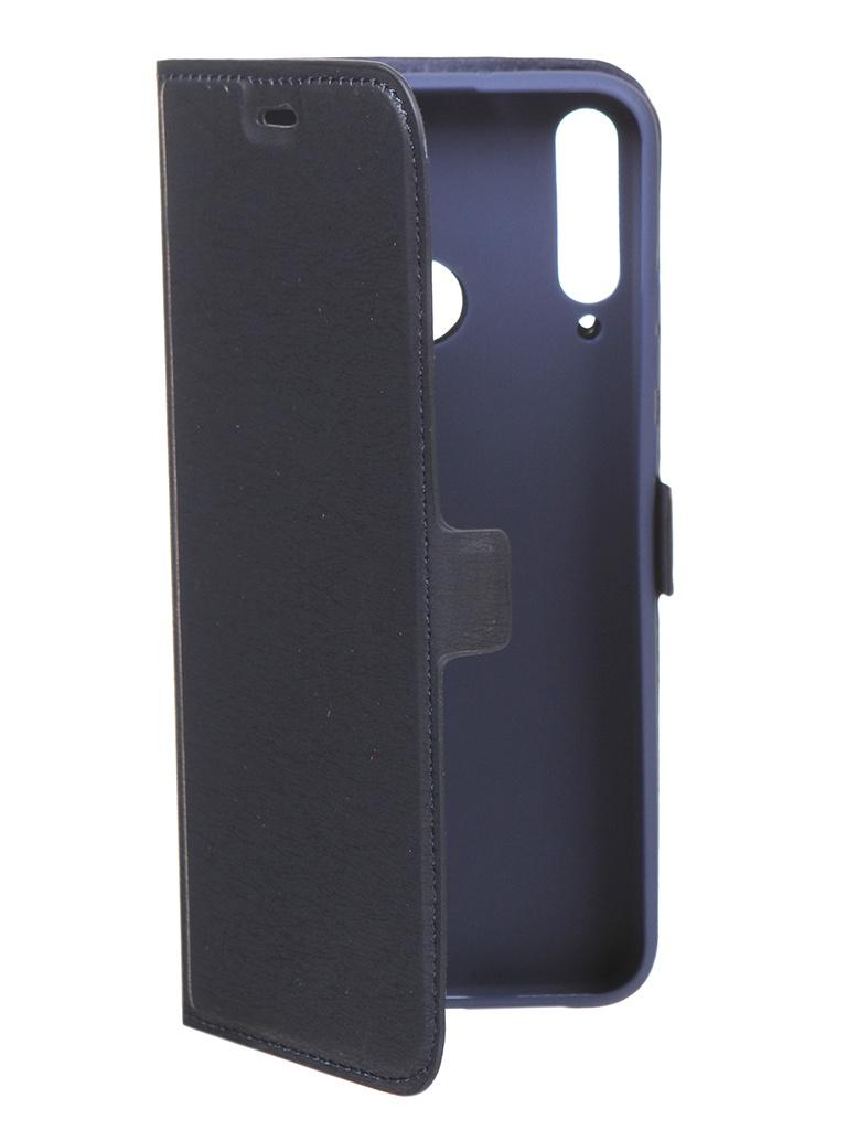Чехол DF для Huawei P40 Lite E / Honor 9C Blue hwFlip-82