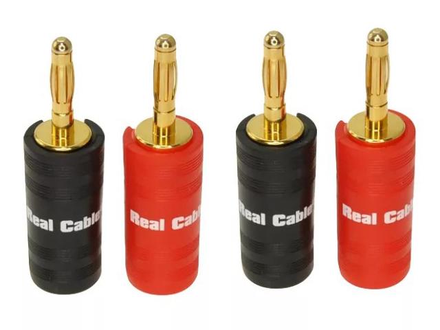 Разъем Real Cable Banana B6932-2C/4PCS