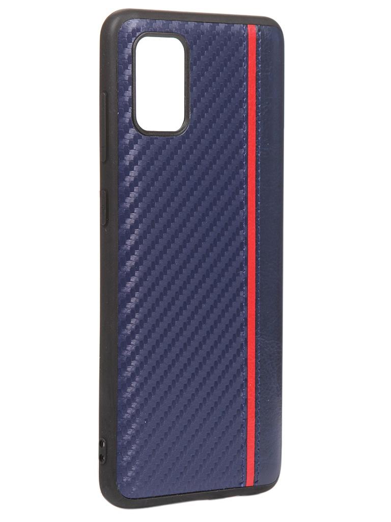Чехол G-Case для Samsung Galaxy A31 Carbon Dark Blue GG-1239