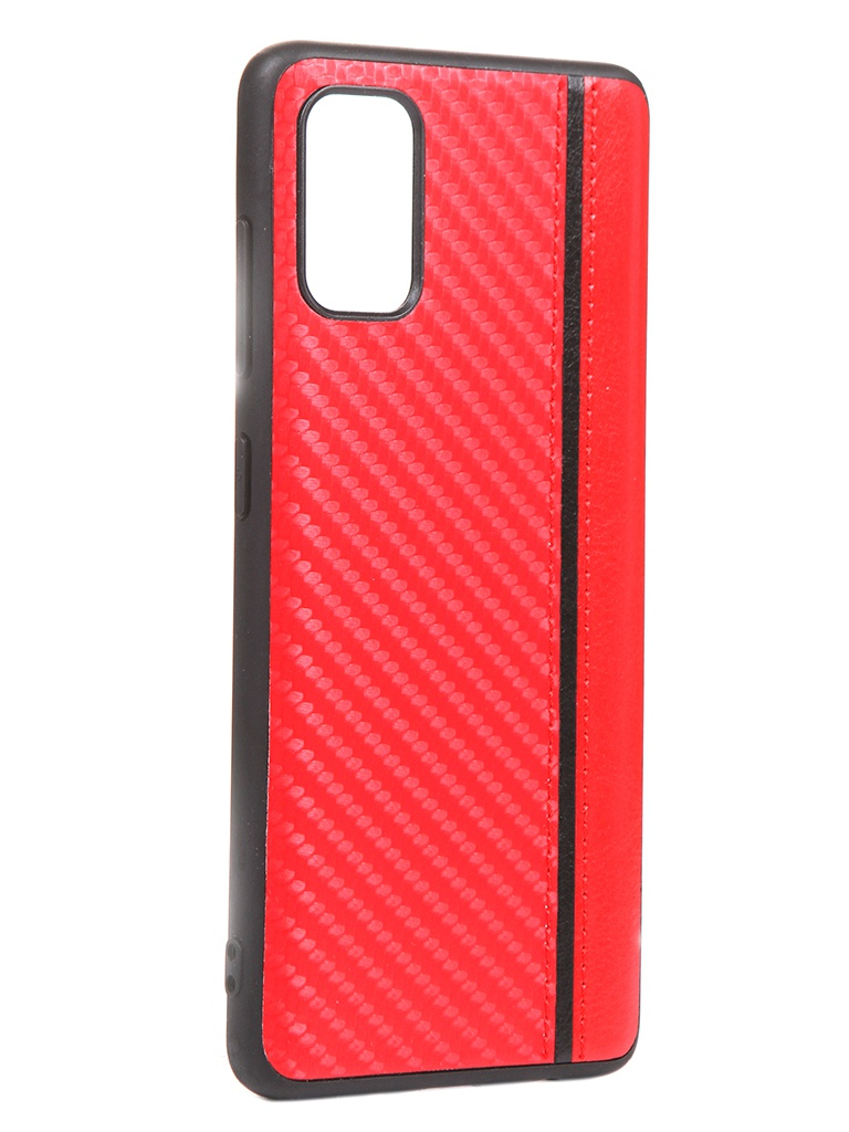 Чехол G-Case для Samsung Galaxy A41 Carbon Red GG-1241