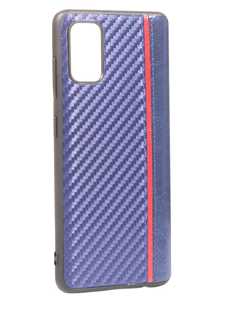 Чехол G-Case для Samsung Galaxy A41 Carbon Dark Blue GG-1242