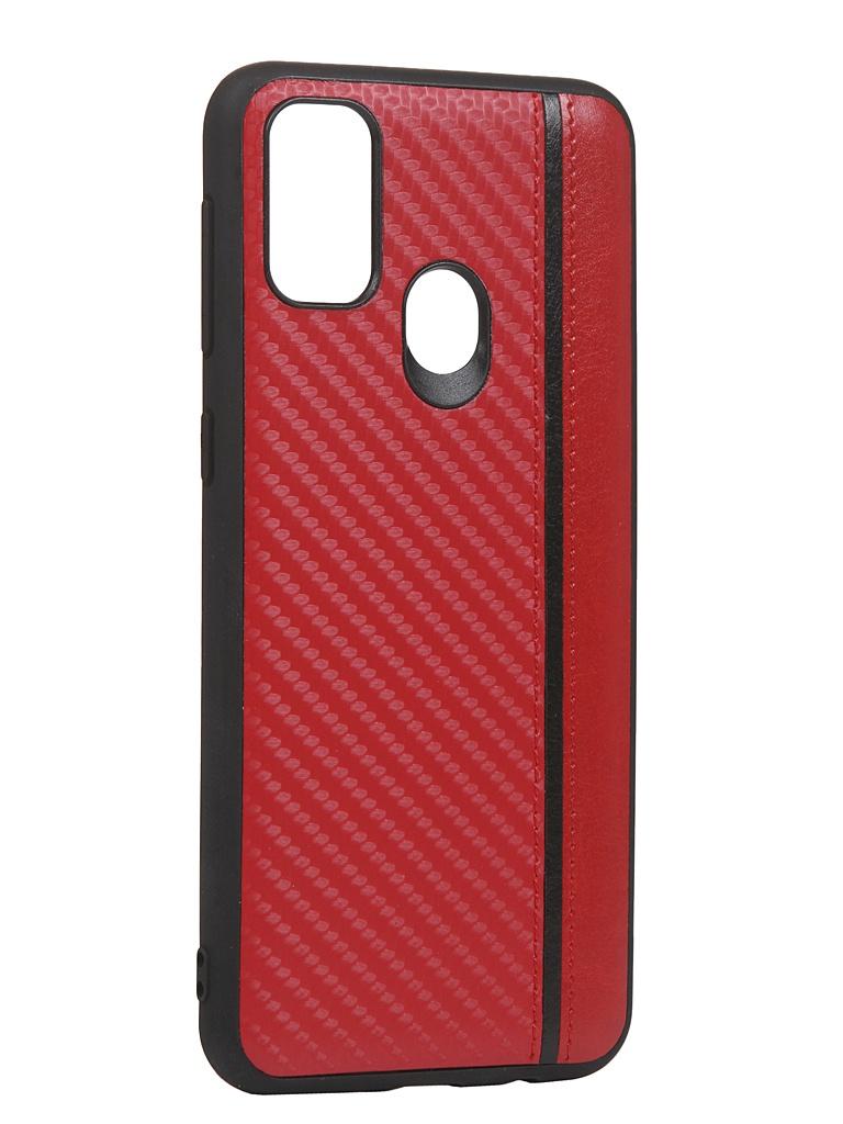 Чехол G-Case для Samsung Galaxy M21 Carbon Red GG-1244 чехол g case для samsung galaxy m21 slim premium red gg 1253