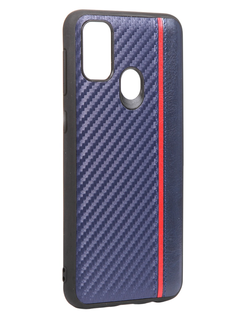 Чехол G-Case для Samsung Galaxy M21 Carbon Dark Blue GG-1245