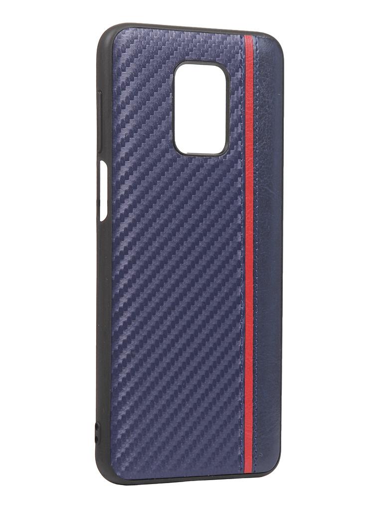 Чехол G-Case для Xiaomi Redmi Note 9S / 9 Pro Max Carbon Dark Blue GG-1236