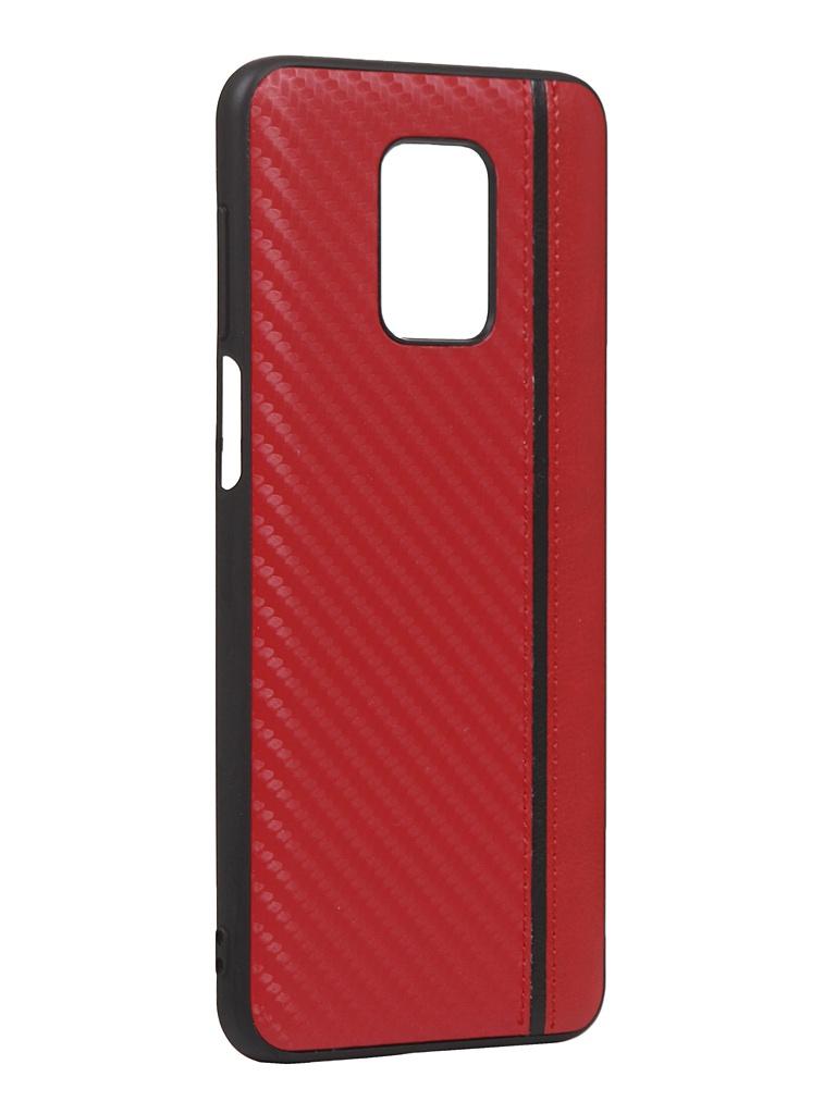 Чехол G-Case для Xiaomi Redmi Note 9S / 9 Pro Max Carbon Red GG-1235