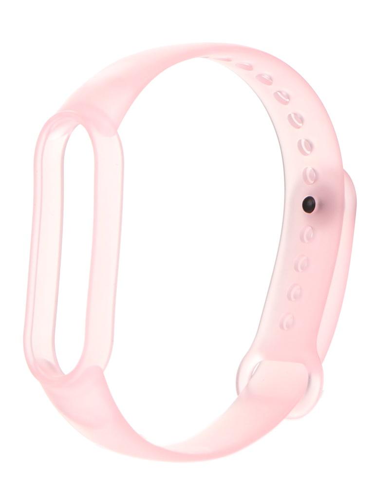 Aксессуар Ремешок Zibelino для Mi Band 5 Silicone Transparent Pink ZBS-P-XIMB5-PNK