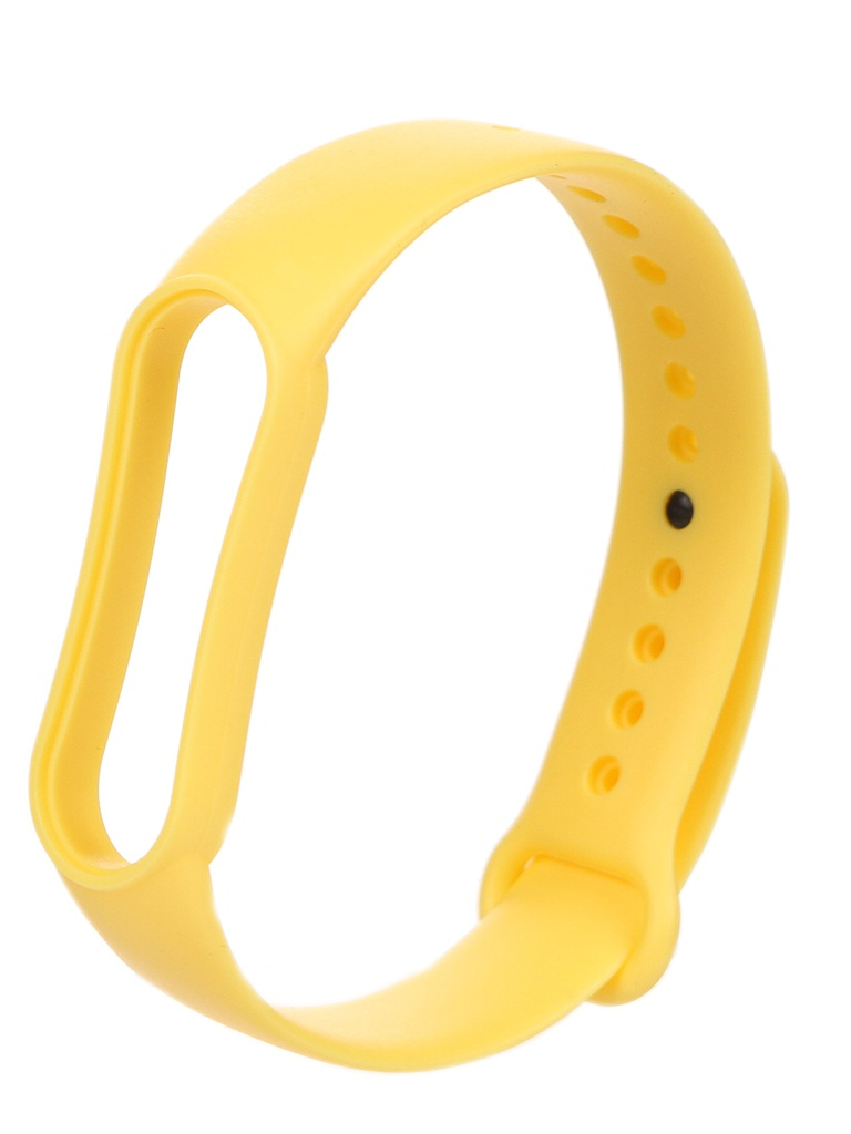 Aксессуар Ремешок Zibelino для Mi Band 5 Silicone Yellow ZBS-XIMB5-YEL