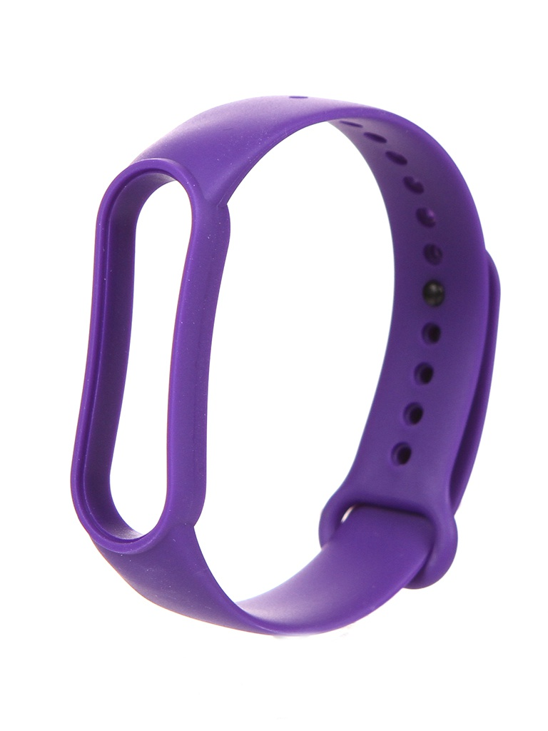Aксессуар Ремешок Zibelino для Mi Band 5 Silicone Purple ZBS-XIMB5-PUR