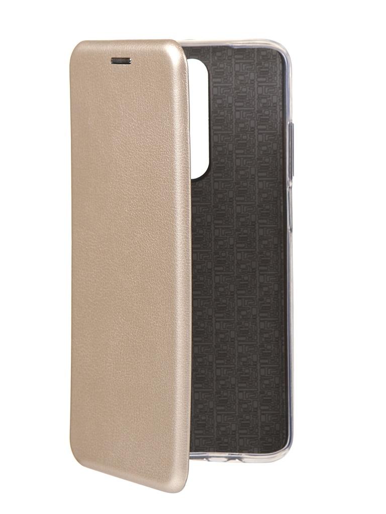 Чехол Innovation для Xiaomi Redmi K30 Book Silicone Magnetic Gold 17084