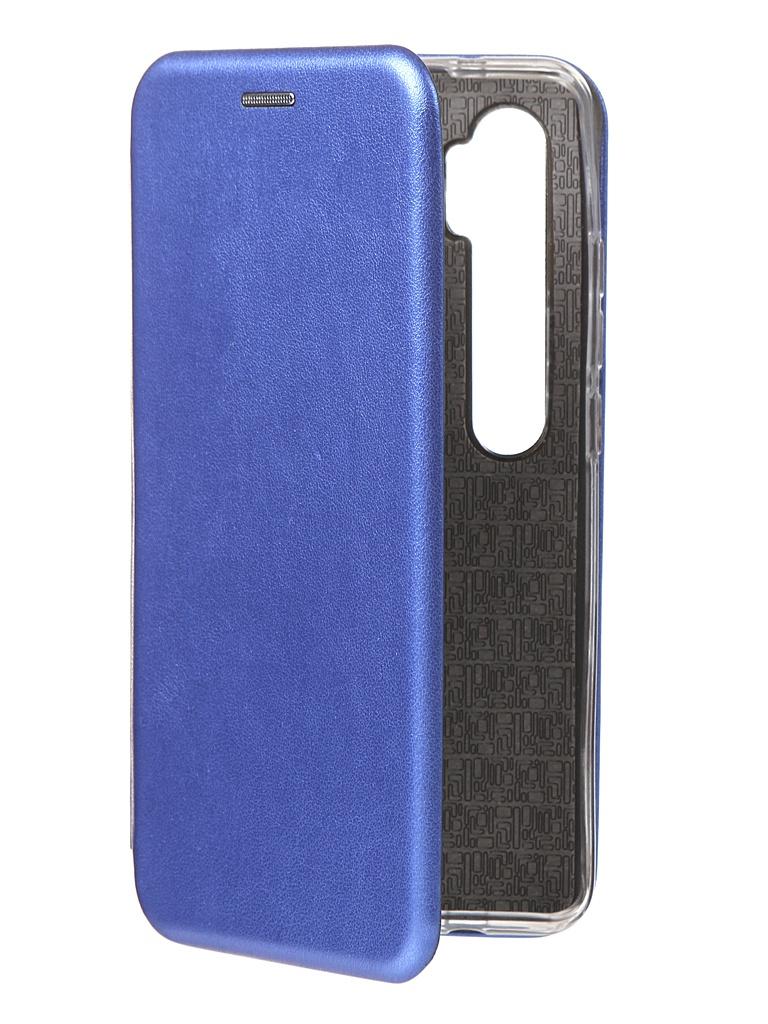 Чехол Innovation для Xiaomi Mi Note 10 Book Silicone Magnetic Blue 17054