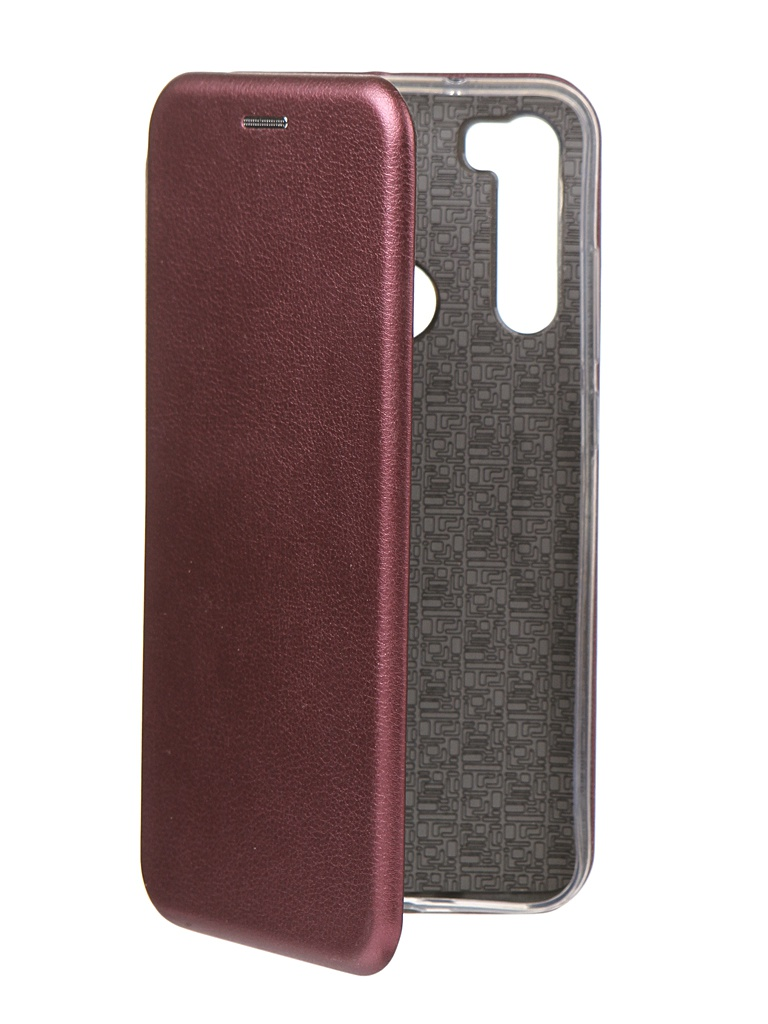 Чехол Innovation для Xiaomi Redmi Note 8 Book Silicone Magnetic Bordo 16633