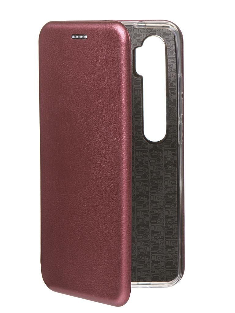 Чехол Innovation для Xiaomi Mi Note 10 Book Silicone Magnetic Bordo 17049