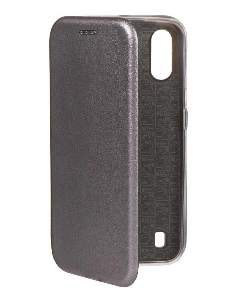 Чехол Innovation для Samsung Galaxy A01 Book Silicone Magnetic Silver 16895
