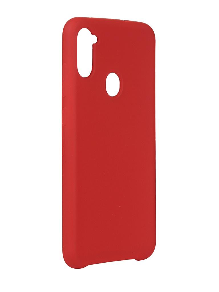 Чехол Innovation для Samsung Galaxy A11 Silicone Cover Red 17718