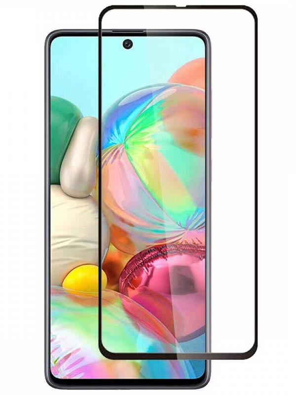 Противоударное стекло Innovation для Samsung A71 2D Full Glue Black 16912
