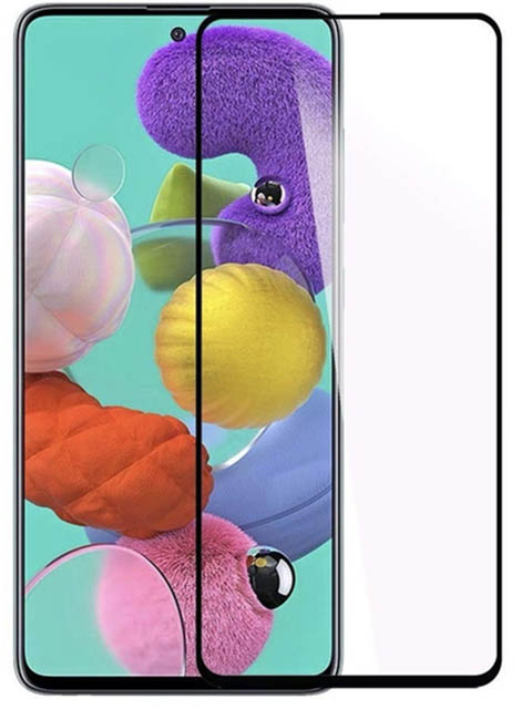 Противоударное стекло Innovation для Samsung A51 2D Full Glue Black 16882